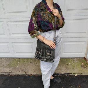 Tignanello 100% Leather Crossbody Braided Bag